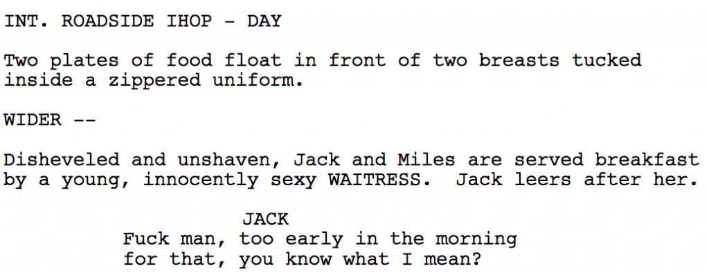 screenplay scene