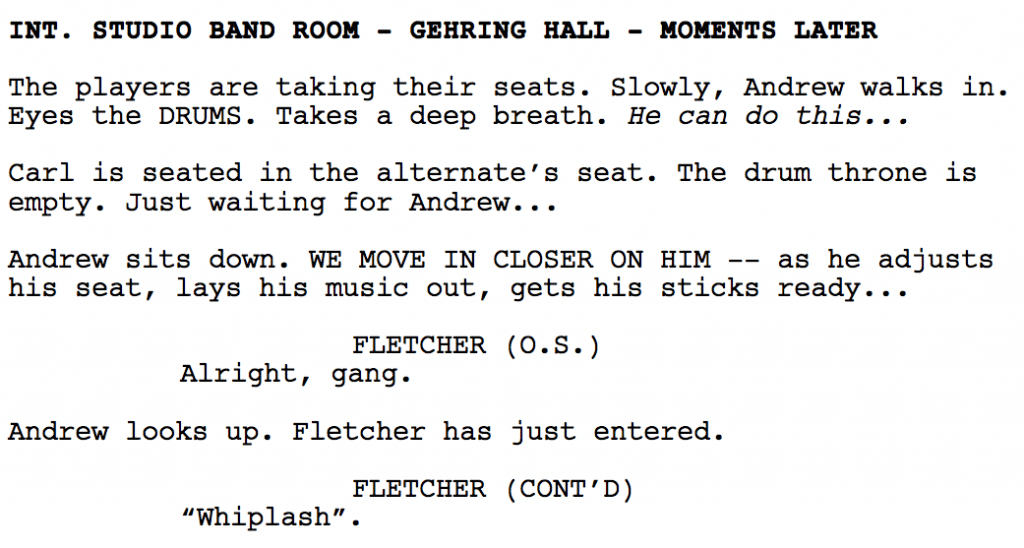 screenplay scene description