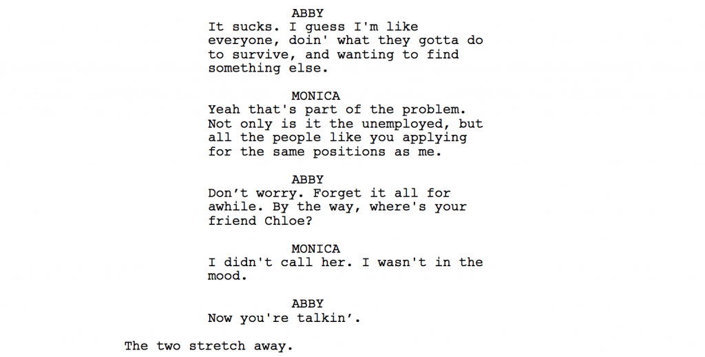"Script Dialogue Should Be More Than ""Just Talking"""
