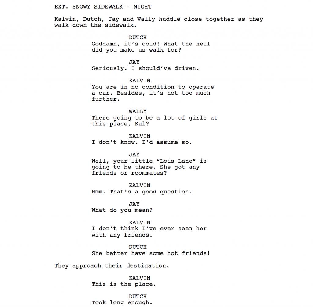 script dialogue