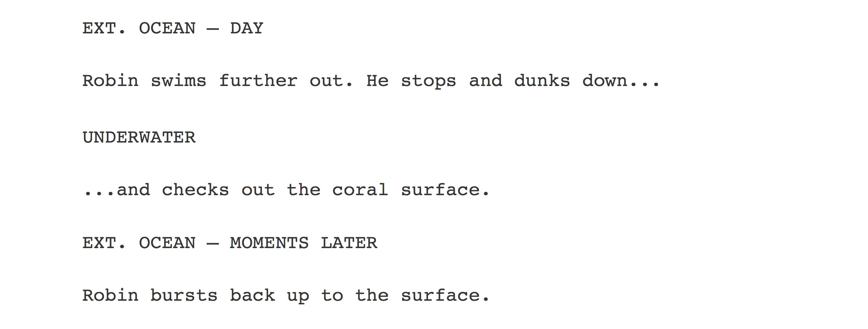 movie script format