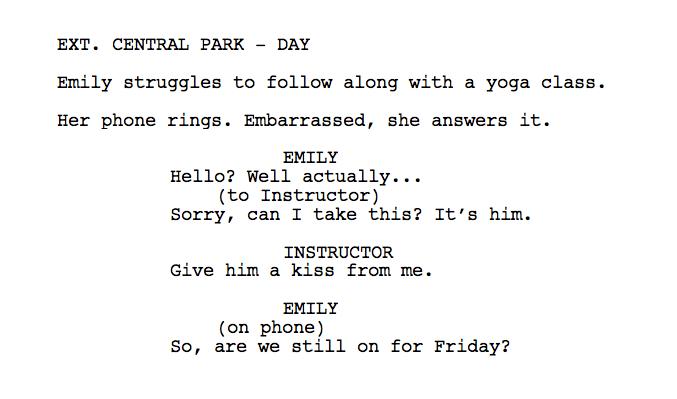 How To Write A Phone Call In A Script