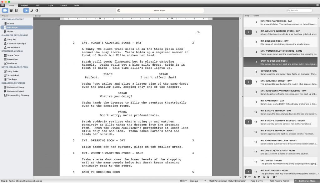 script studio screenwriting software