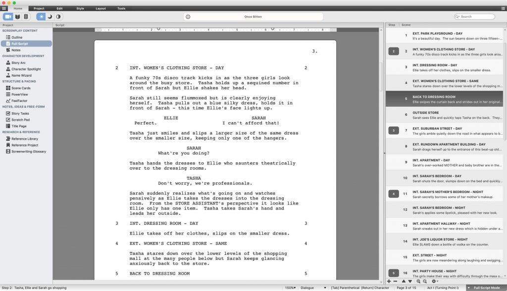 script studio screenwriting software
