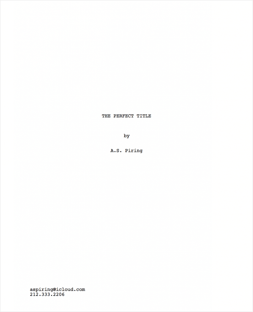 best movie titles ideas screenplay