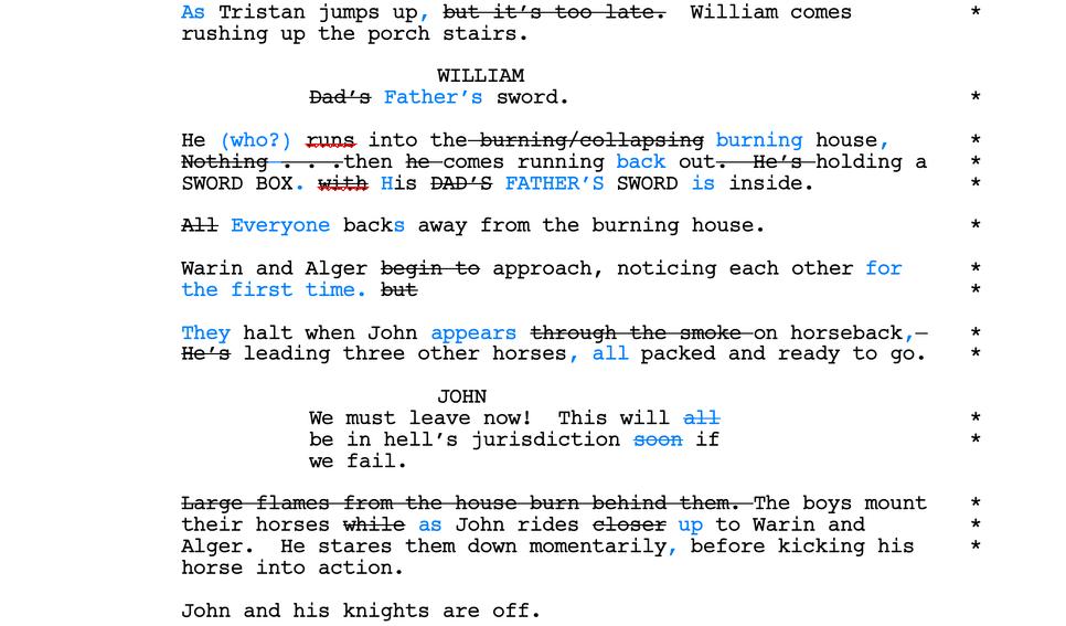 script line edit example