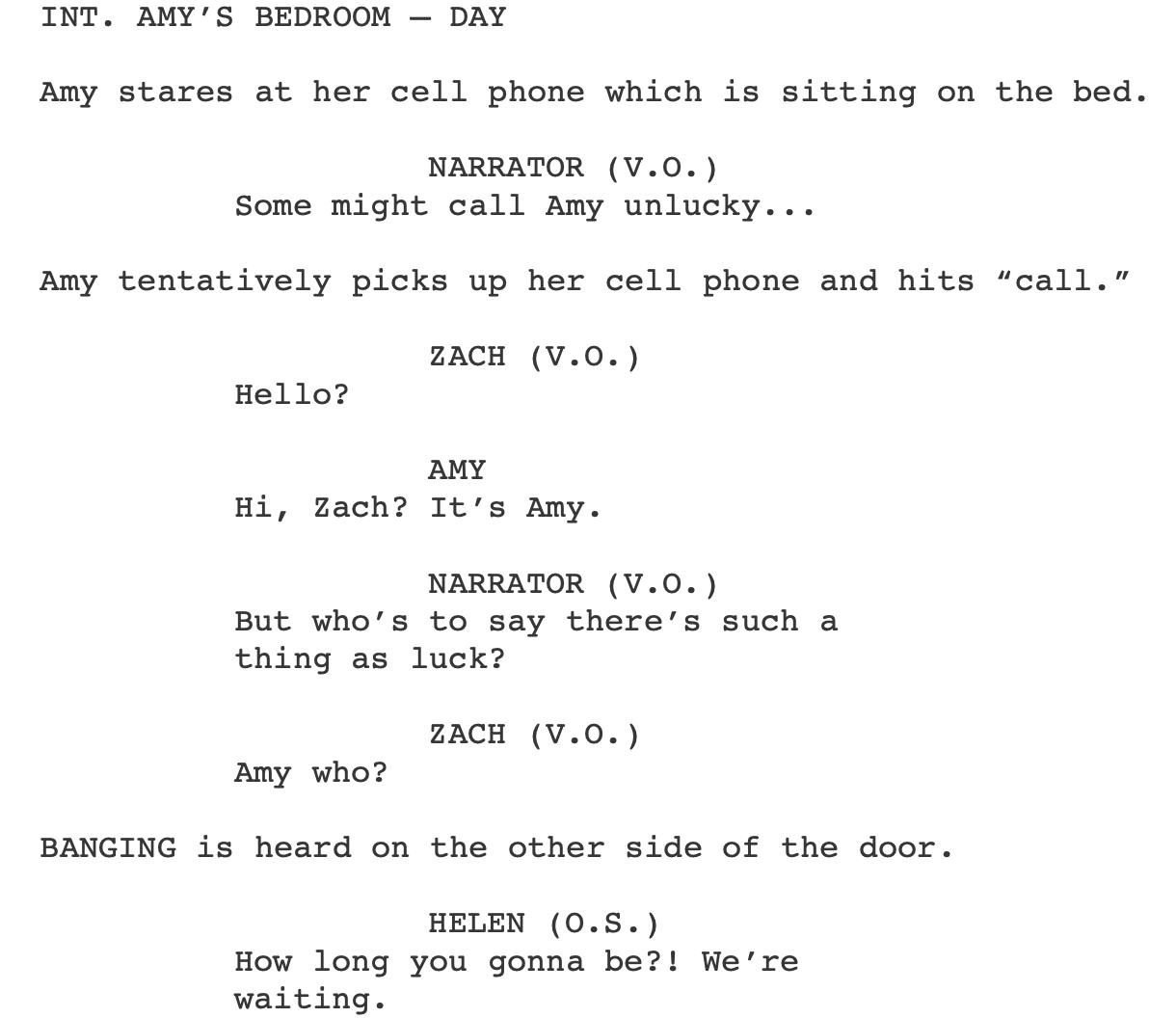 dialogue format