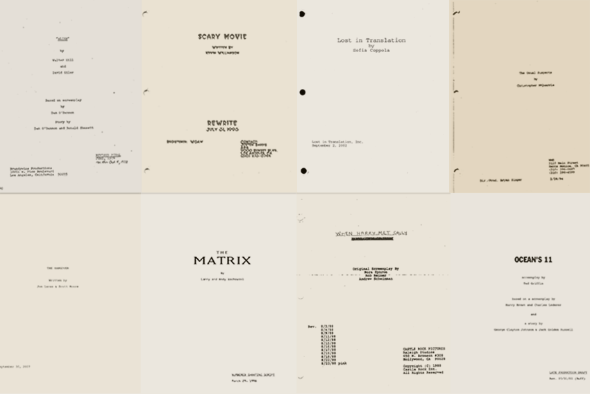 screenplay title page format
