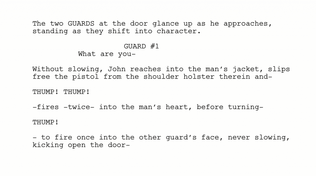 how to write a fight scene in a script