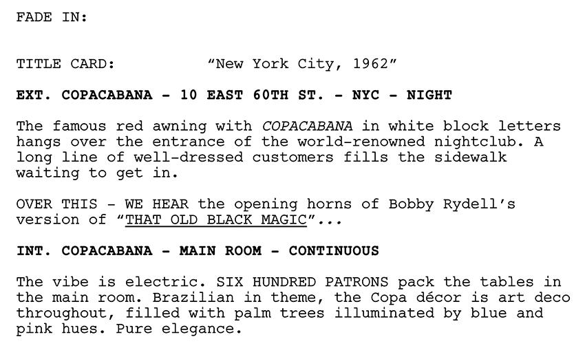 drama script example